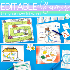 Differentiate Your Word Work Activities with Editable Games