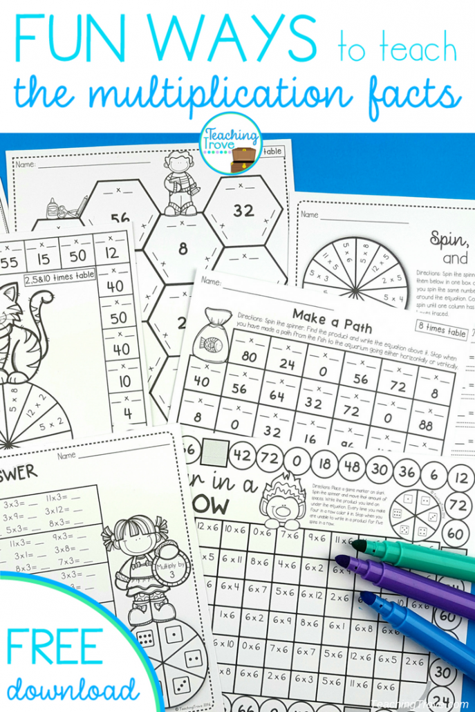 Engage and motivate with multiplication activities that are fun teaching trove - Teaching multiplication tables ...