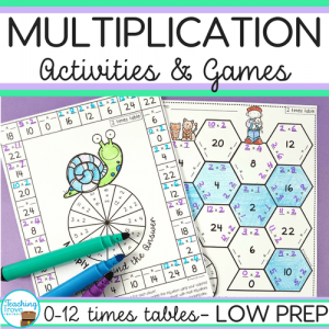multiplication activities and games bundle