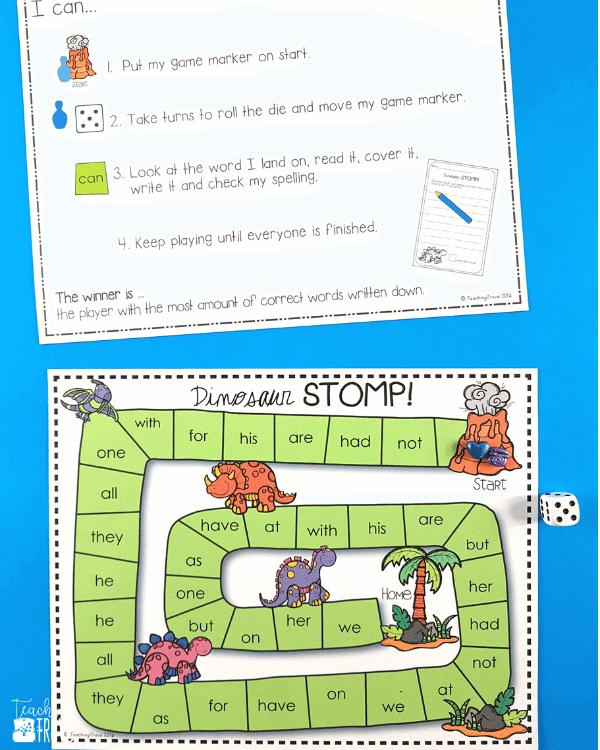 Editable games can be used for any word work activity.