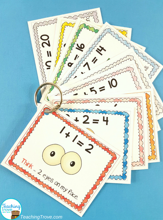 Addition strategy posters help children remember the mental math strategies for adding within 20.