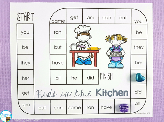Sight word games that are editable.