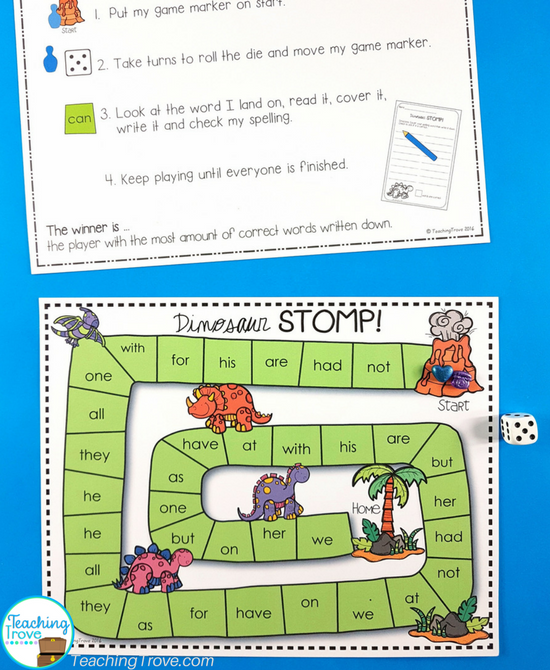 Editable sight word games for word work.