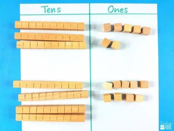 using MAB blocks to teach regrouping