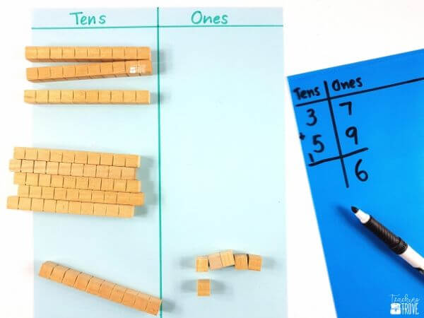 using the addition with regrouping algorithm