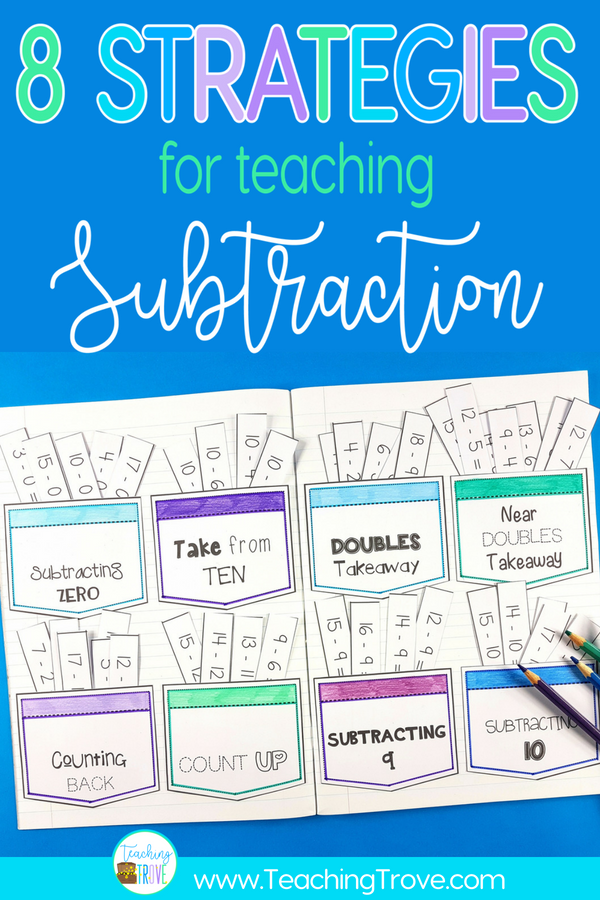Teaching a range of subtraction strategies is important if we want kids to have mastery over the subtraction facts to 20.