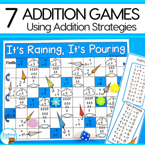 Addition games provide hands-on practice for learning addition strategies. Engage your first grade students with fun math games that help improve fact fluency.