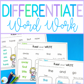 Differentiate your word work activities