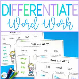 word work activities pack
