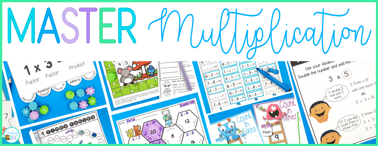 Multiplication games make learning the multiplication facts fun.