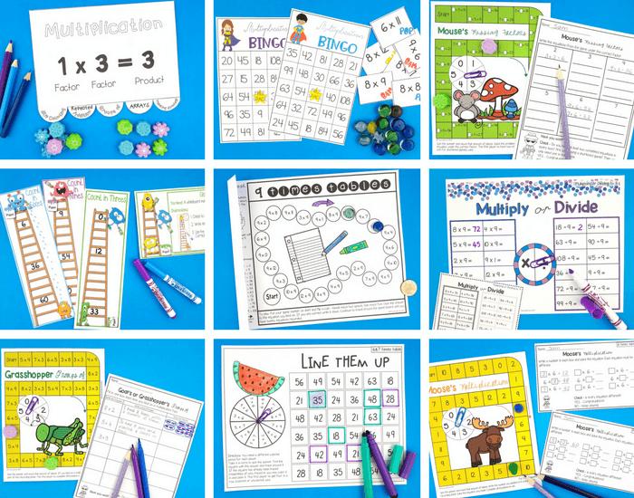9 multiplication activities