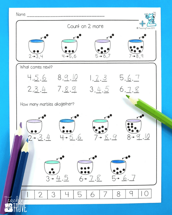 Counting on addition strategy games and activities are perfect for your first grade students. Teach the strategy with the anchor chart and use engaging worksheets and fun hands on games to provide practice.