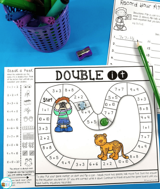 Make homework fun for your year 1 or second grade kiddos by sending home math strategy games.