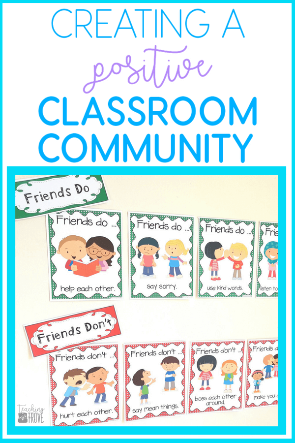 Building a positive classroom community helps create an environment where children feel welcomed and supported. These FREE friendship posters make a great classroom display while teaching your students about friendly behaviors. #classroommanagement #friendship #positiveclassrooms #teambuilding #classroomideas