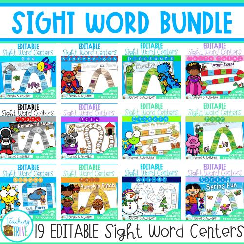 Editable Sight Word Pack