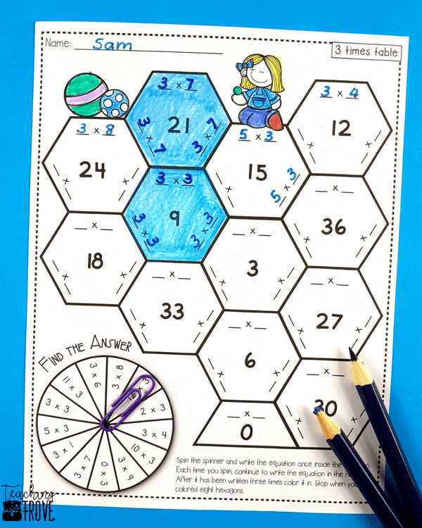 Teaching multiplication to your 3rd grade students can be fun. Use anchor charts and flip books to introduce each multiplication strategy and then hands-on games, activities and printables to help them remember their times tables. #multiplication #timestables #multiplicationactivities #multiplicationgames #3rdgrade #teachingmultiplication