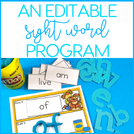 Order Editable Sight Word Program today