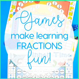 Fraction games are a fun way for your students to consolidate their understanding of fractions.