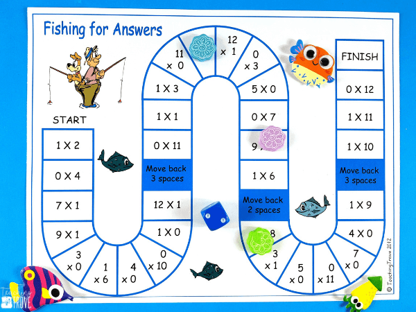 Multiplication games give students the fun practice they need to learn their multiplication facts. Perfect for small groups and math centers these math games consolidate the multiplication facts from 1 – 12x. #multiplication #multiplicationgames