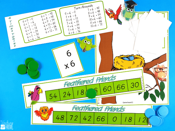 Multiplication games give students the fun practice they need to learn their multiplication facts. Perfect for small groups and math centers these math games consolidate the multiplication facts from 0 – 12x. #multiplication #multiplicationgames