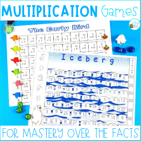Multiplication games for mastery over the facts