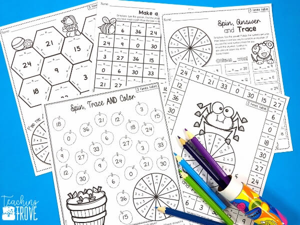 Multiplication games and activities make learning the multiplication facts fun.