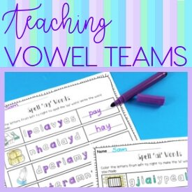 Fun ways to Teach Vowel Teams
