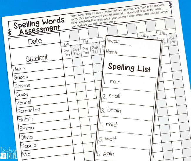Love the idea of making spelling centers for your first, second or third grade students in seconds? With a choice of 49 activities that you can edit to include the spelling words your students need, you'll have spelling activities ready to use in no time. Use the included spelling list ideas or your own. Add the spelling visual to the center and have your students mastering their spelling with ease. #spelling #spellingactivities