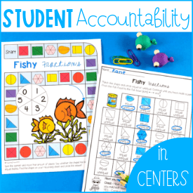 How to have student accountability in math centers