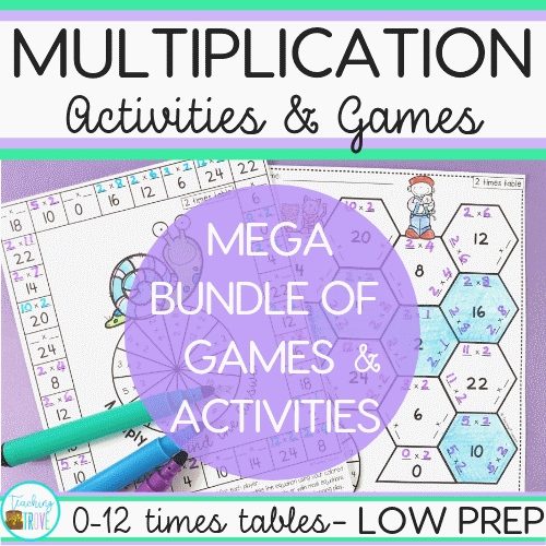 Teaching multiplication to your 3rd grade students can be fun. Use anchor charts and flip books to introduce each multiplication strategy and then hands-on games, activities and printables to help them remember their times tables.