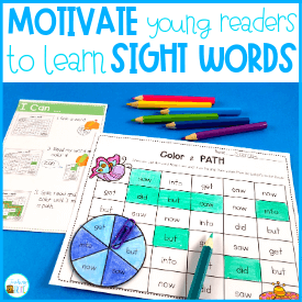 Motivate young readers to learn their sight words