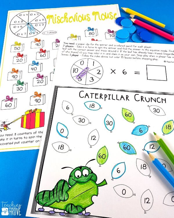 After introducing a multiplication fact to your 3rd grade students, give them five different ways to practice it. This set of 60 interactive multiplication games is perfect for giving your students the fun practice they need to achieve multiplication fact fluency.