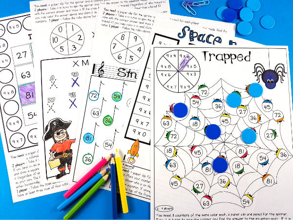 After introducing a multiplication fact to your 3rd grade students, give them five different ways to practice it. This set of 60 interactive multiplication games is perfect for giving your students the fun practice they need to master their multiplication facts.