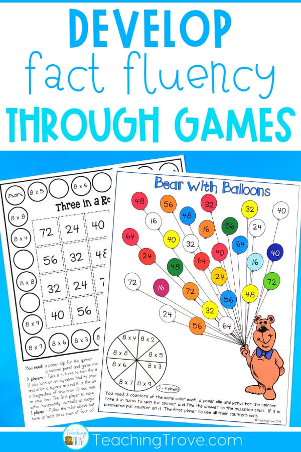 After introducing a multiplication fact to your 3rd grade students, give them five different ways to practice it. This set of 60 interactive multiplication games is perfect for giving your students the fun practice they need to master their multiplication facts. #multiplicationfacts #multiplicationgames