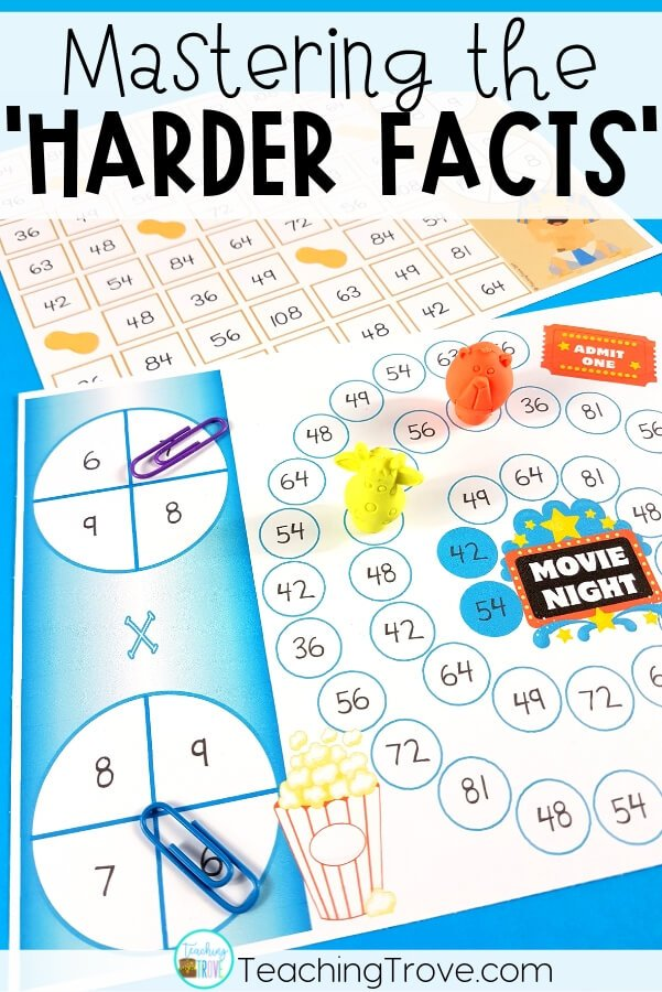 Multiplication games give your third grade students the fun practice they need to learn their multiplication facts. Games are the perfect way to provide meaningful practice to master more difficult math concepts. They are perfect to use in math centers, for partner work, morning work, or for extra activities for early finishers. #multiplication #multiplicationgames #multiplicationstrategies