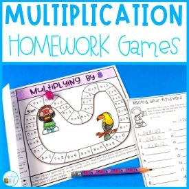 A Multiplication Fact Fluency Homework Idea