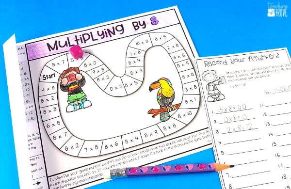 Make homework fun for your year 3 or fourth grade students by sending home multiplication strategy games.