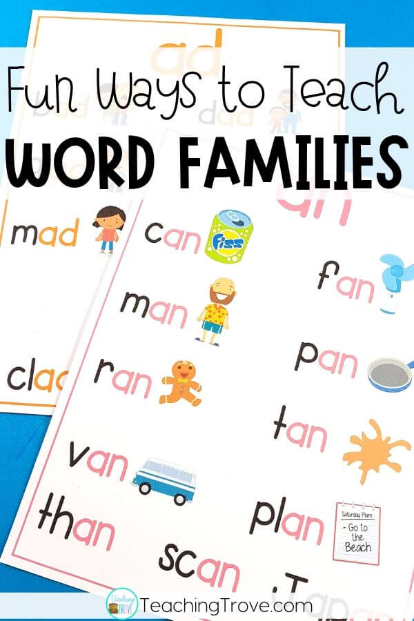Fun ways to teach word families