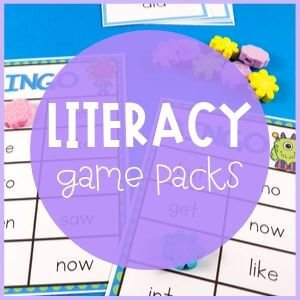 Literacy game packs