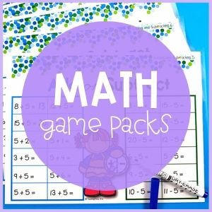 Math game packs