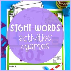 Sight words activities and games