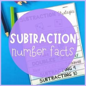 Subtraction number facts