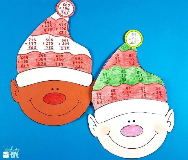 Fun Christmas math crafts